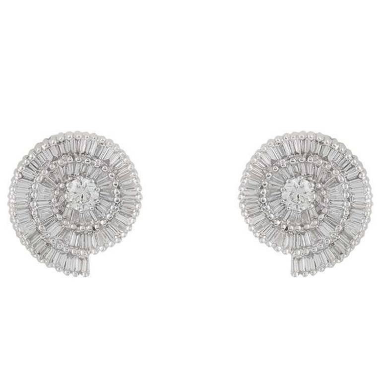 Diamond Stud Earrings 2.35 Carat