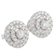 Diamond Stud Earrings 2.24 Carat