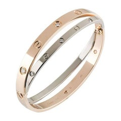Cartier Rose and White Gold Diamond Love Bracelet