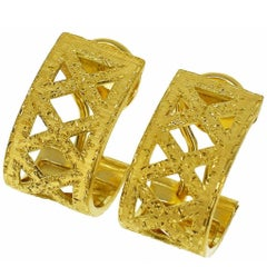 Federico Buccellati Design 18 Karat Yellow Gold Clip Earrings