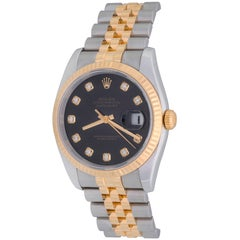 Rolex Yellow Gold Stainless Steel Datejust Automatic Wristwatch, 2007