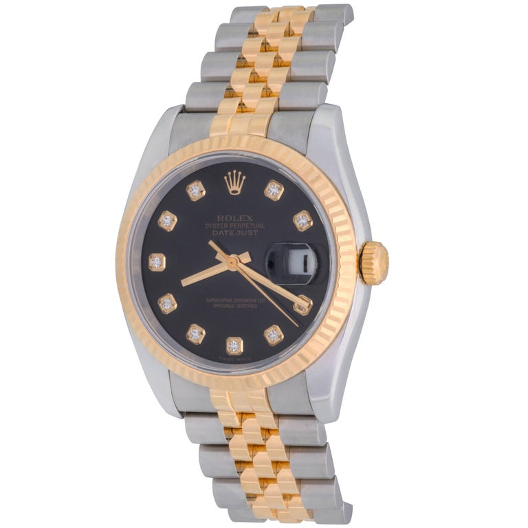 Rolex Datejust Mens Yellow Gold Stainless Steel Automatic Wristwatch, 2007