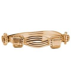 18 Karat Gold Elephant Hair Bangle Bracelet Ladies