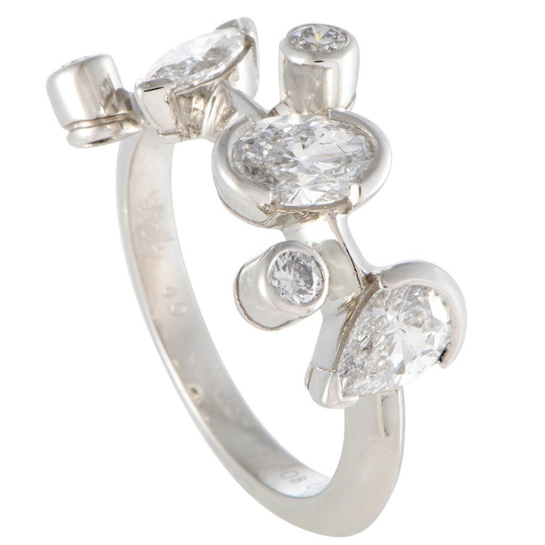 Cartier Meli Melo Diamond Platinum Band Ring