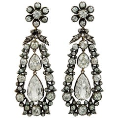 Antique  Old Mine Diamond Earrings