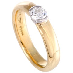 Tiffany & Co. Etoile .29 Carat Diamond Solitaire Gold and Platinum Ring