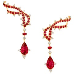 Ruby, Rubelite and Diamonds, Responsibly and Ethically Sourced Mozambican Gems