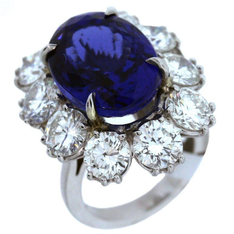 diamond of af with halo rg products one kind platinums tanzanite a and jewelers ring collection platinum diamonds