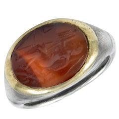 Roman Carnelian Intaglio Ring