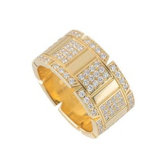 Cartier Yellow Gold Diamond Tank Francaise Ring