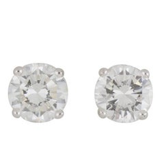 GIA Certified Diamond Stud Earrings Total 5.12 carats
