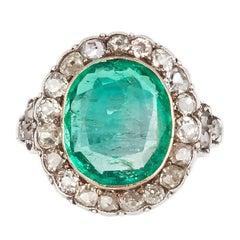 19th Century Emerald and Diamond Ring