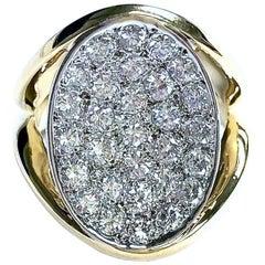 1.8 Carat of Diamonds Pave Diamond Cocktail Ring