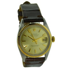 Rolex Yellow Gold Stainless Steel Datejust Perpetual Wind Watch