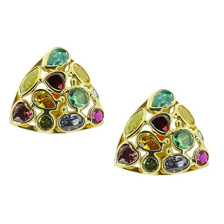 and multicolored earrings pearls pearl diamonds in sapphires en gold yellow australian