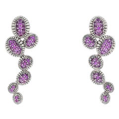 Lagos Pink Sapphire Muse Venus Sterling Silver Dangle Earrings