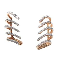 Diamond Pink Rose Gold Ear Cuffs