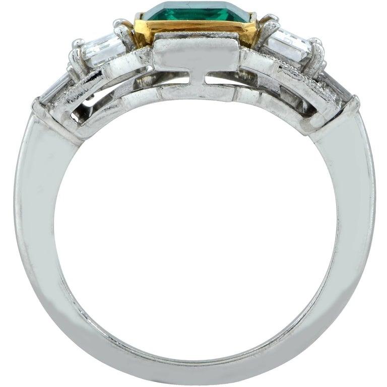 3.05 Carat Emerald and Diamond Ring 4