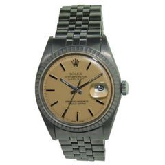 Rolex Stainless Steel Datejust Perpetual Wind Watch, circa 1971