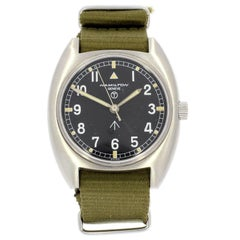 "Hamilton Stainless Steel Military ""Broad Arrow"" Wristwatch"