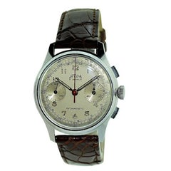 Telda Stainless Steel New Old Stock Chronograph Manual Wristwatch