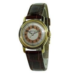 Schulz Yellow Gold Original Dial Manual Watch, circa 1940s