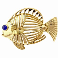 Cartier London Open Design Fish Brooch