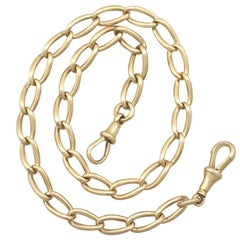 1900s Antique Yellow Gold Watch Chain