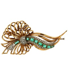 Old Yellow and White Gold Brooch