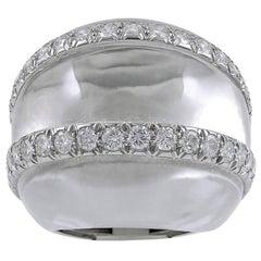 David Webb Diamond Crystal Dome Ring