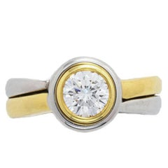 Mark Patterson Two-Tone Bezel Set Diamond Ring