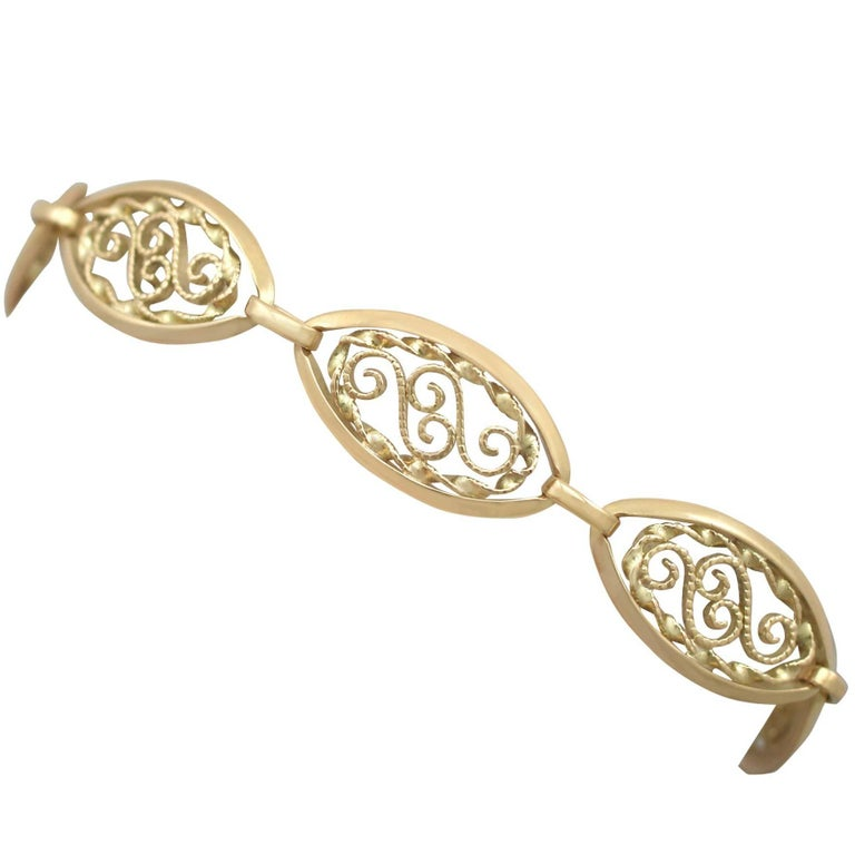 1890s French Yellow Gold Bracelet