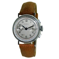 Dorex Stainless Steel New Old Stock Chronograph Manual Wristwatch, circa 1940s
