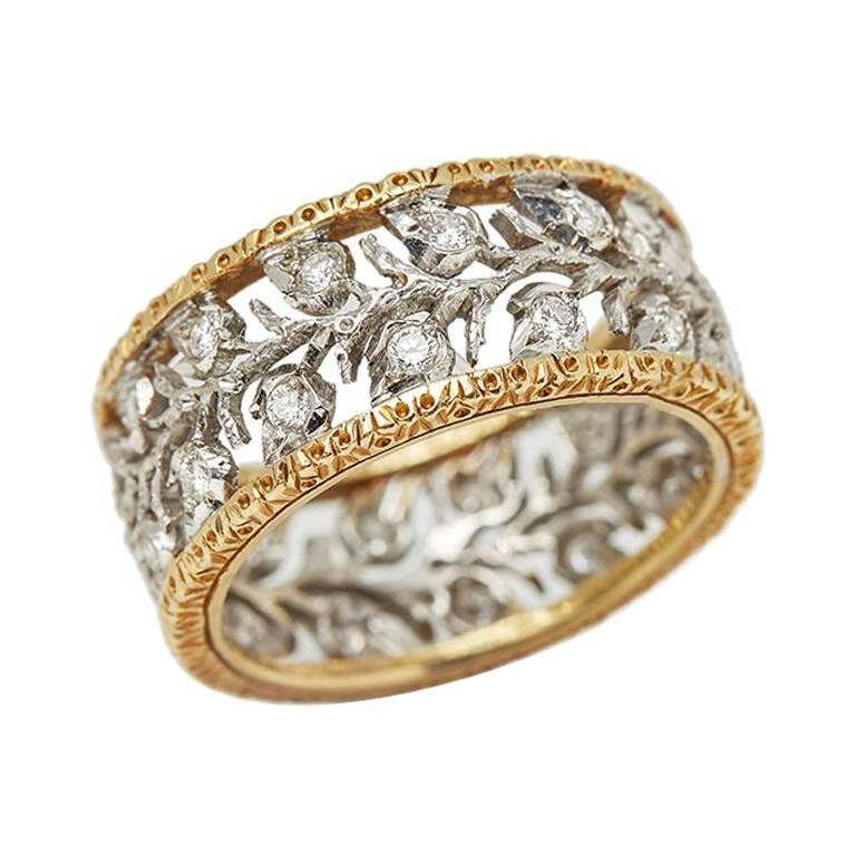 Buccellati Diamond Gold Ramage Eternelle Ring