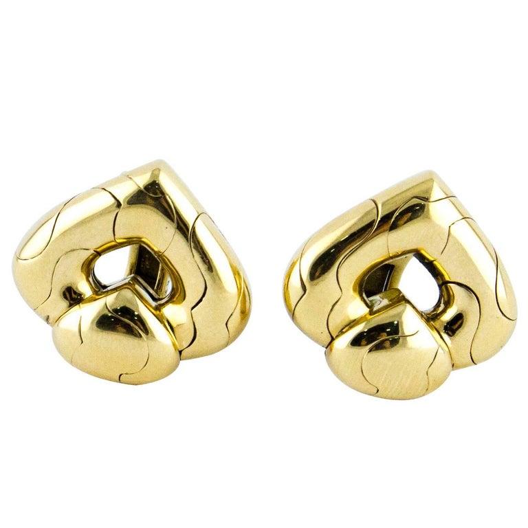 Marina Bulgari Clip-On Yellow Gold Earrings