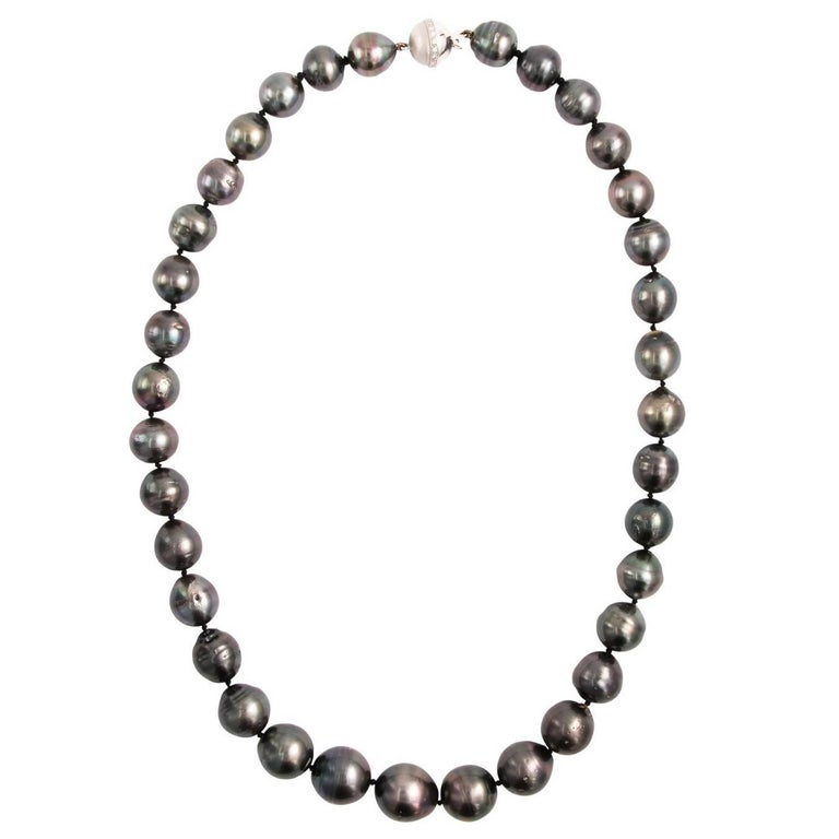 Baroque Peacock Tahitian Pearl Necklace