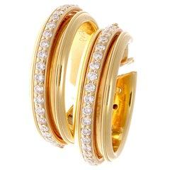 Piaget Possession Diamond Gold Hoop Earrings