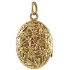 Small Antique Gold Chinese Pendant Locket
