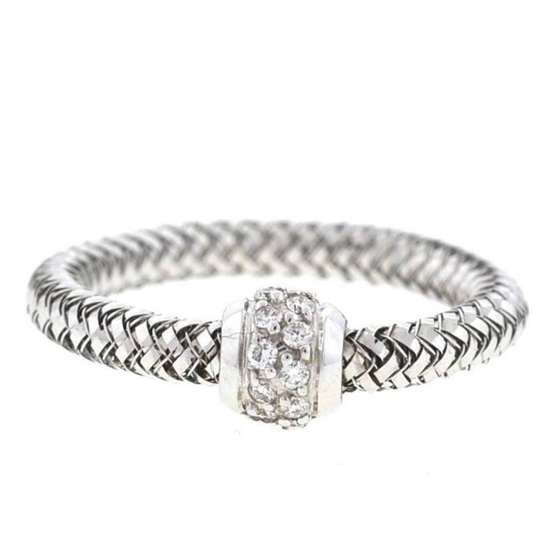 Roberto Coin 18 Karat White Gold Primavera Ring