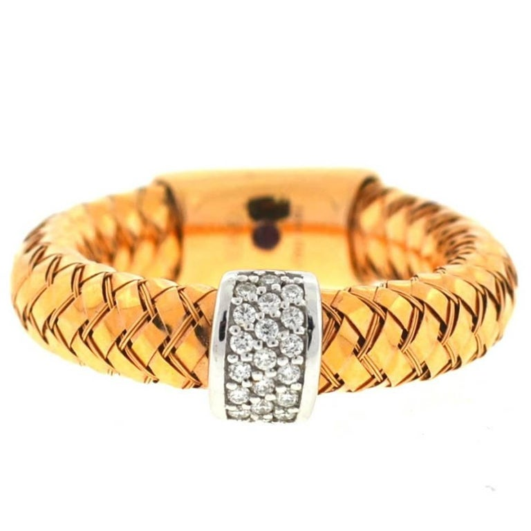 Roberto Coin 18 Karat Rose Gold Primavera Ring