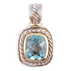 """David Yurman"" Albion Blue Topaz Hinged Enhancer"