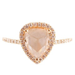 Rose Gold Rose Cut Diamond Ring