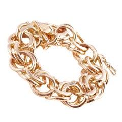 Fabulous 18 Karat Yellow Gold Circle Link Bracelet