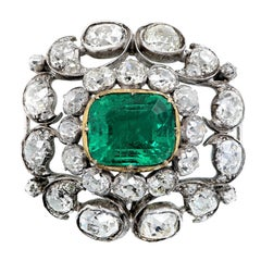 Imperial Brooch 5.31 Carat Emerald and Diamonds of Habsburg Provenance