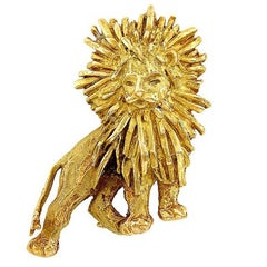 Chaumet Gold Lion Brooch