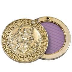 Gilt Metal St. Christopher's Amulet