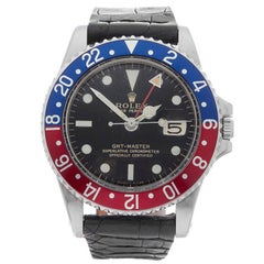 Rolex GMT-Master Gilt Gloss Pepsi Stainless Steel Gents 1675, 1966