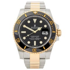 Rolex Submariner Stainless Steel and 18 Karat Yellow Gold Gents 116613LN