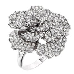 Emilio Jewelry Handmade Micro Pave Diamond Flower Ring