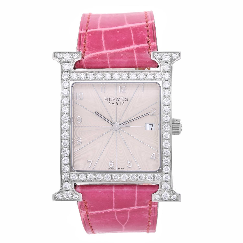 Hermes Ladies Stainless Steel Heure H Quartz Wristwatch